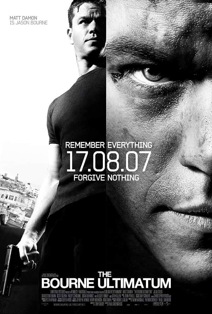 The Bourne Ultimatum 2007 BRRip 720p Dual Audio 1GB