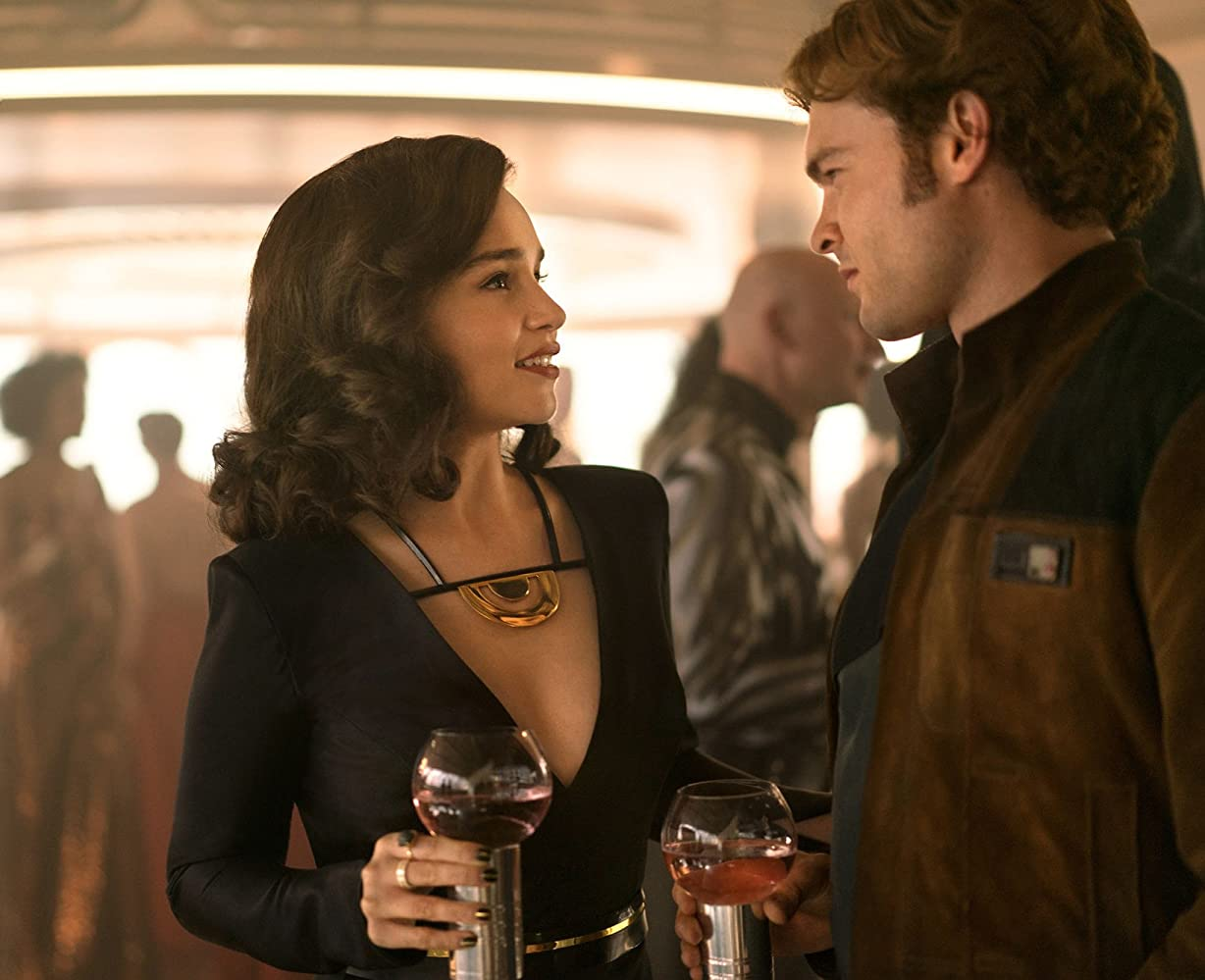 Alden Ehrenreich and Emilia Clarke in Solo: A Star Wars Story (2018)