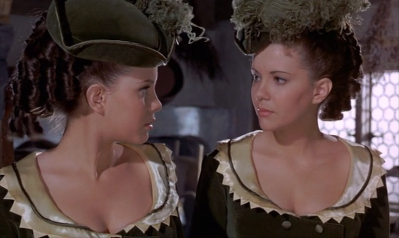 Madeleine Collinson and Mary Collinson in Twins of Evil (1971)