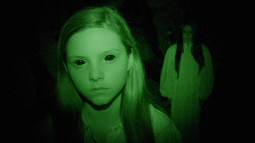 Jessica Tyler Brown and Chloe Csengery in Paranormal Activity: The Ghost Dimension (2015)