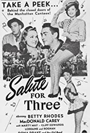 Salute for Three Poster
