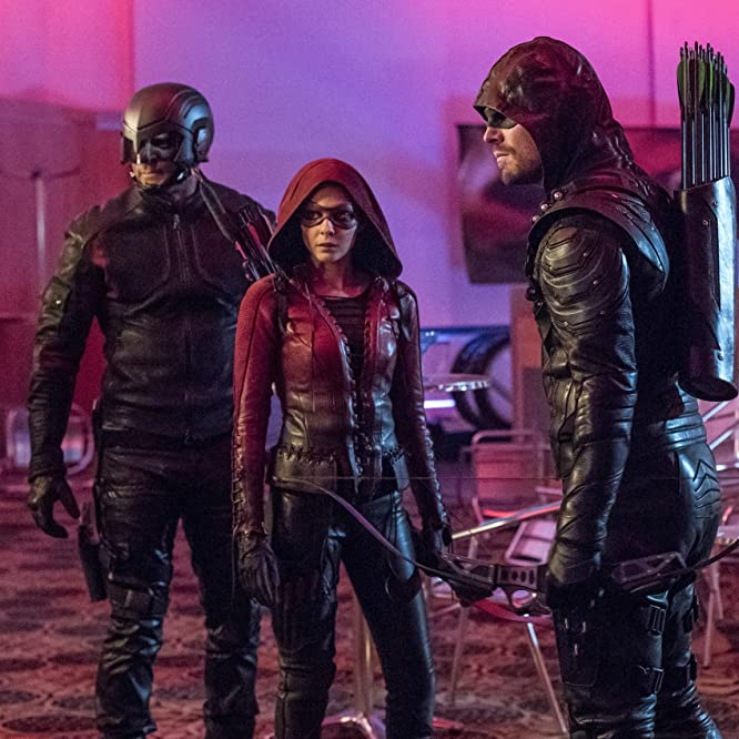 David Ramsey, Willa Holland, and Stephen Amell in Arrow (2012)