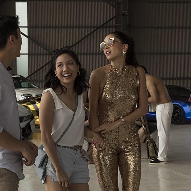 Constance Wu, Sonoya Mizuno, and Henry Golding in Crazy Rich Asians (2018)