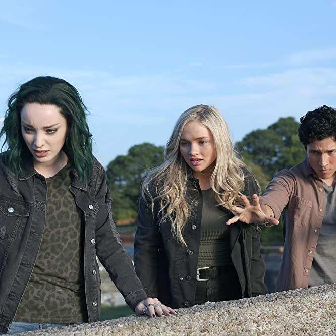 Natalie Alyn Lind, Emma Dumont, and Danny Ramirez in The Gifted (2017)
