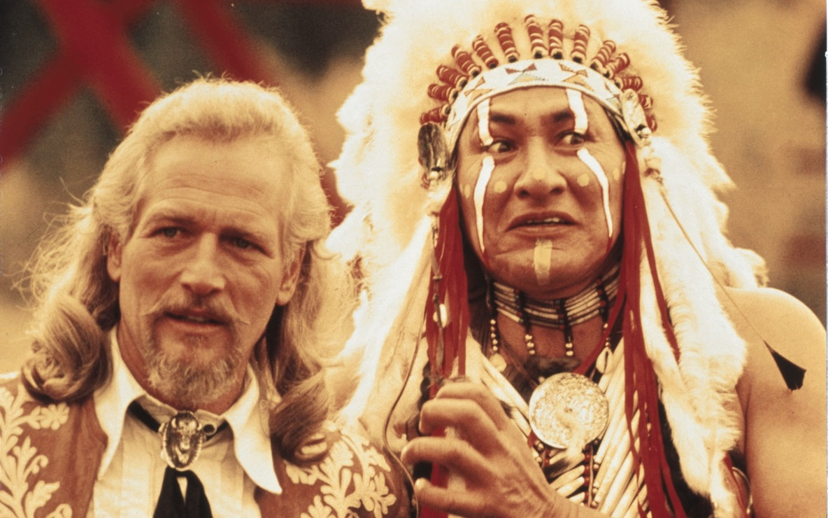 Paul Newman and Will Sampson in Buffalo Bill and the Indians, or Sitting Bull's History Lesson (1976)
