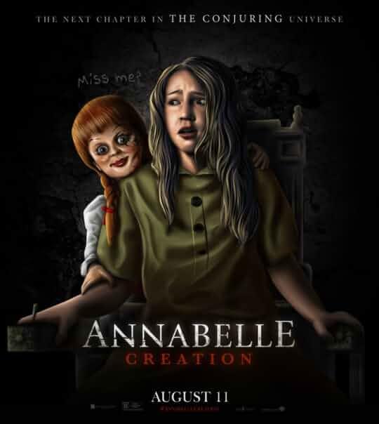 Annabelle Creation (2017) 720p BRRip ORIGINAL AUDIOS [HINDI, TAMIL, TELUGU, ENG] AC3  (RM 5 1) mkv