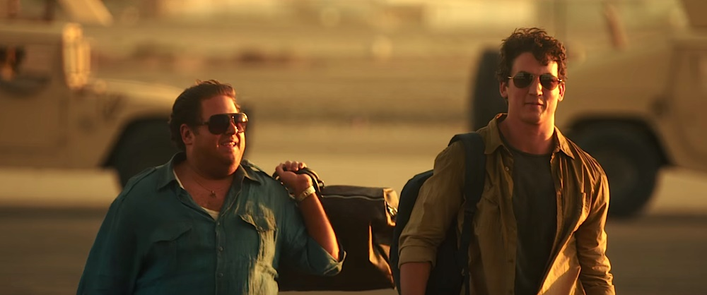 Jonah Hill and Miles Teller in War Dogs (2016)