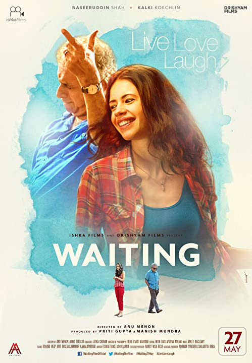 Naseeruddin Shah and Kalki Koechlin in Waiting 2016 Full Movie HD DVDRip Download 700MB 300MB Watch Online At www.movies365.in