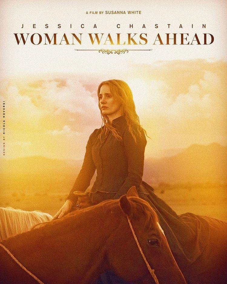 Poster for Woman walks ahead