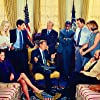 Stockard Channing, Rob Lowe, Martin Sheen, Allison Janney, Janel Moloney, Richard Schiff, John Spencer, and Bradley Whitford in The West Wing (1999)