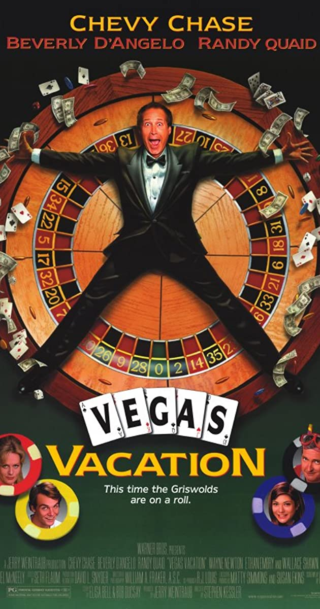 Chevy Chase Randy Quaid Signed Vegas: Vegas Vacation (1997)