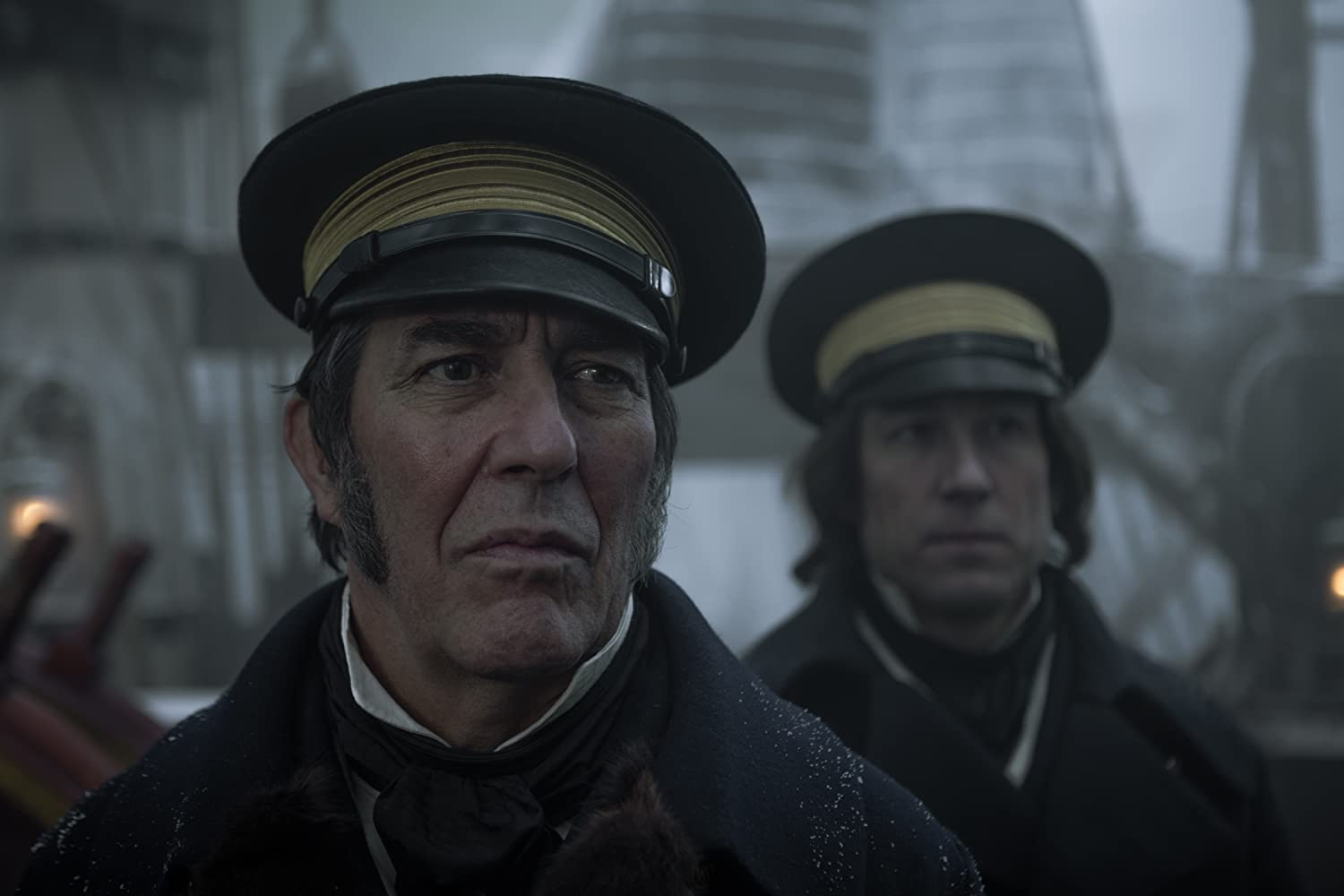 Ciarán Hinds and Tobias Menzies in The Terror (2018)