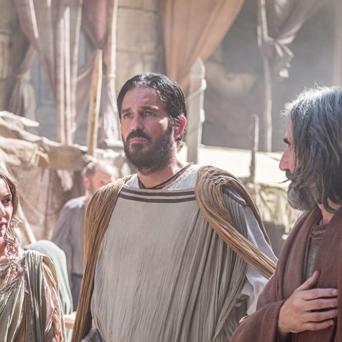Joanne Whalley, Jim Caviezel, and John Lynch in Paul, Apostle of Christ (2018)
