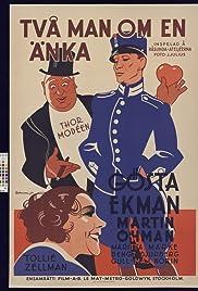 Två man om en änka Poster
