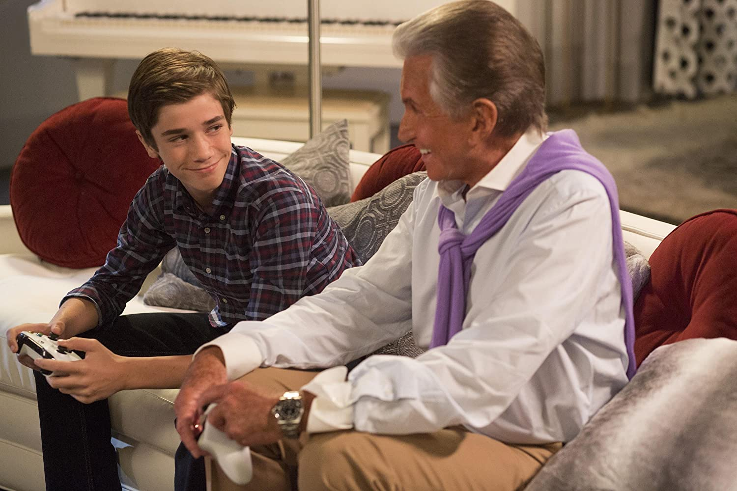 George Hamilton and Daniel DiMaggio in American Housewife (2016)