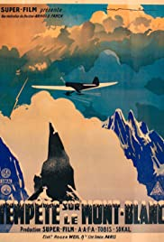 Storm Over Mont Blanc Poster