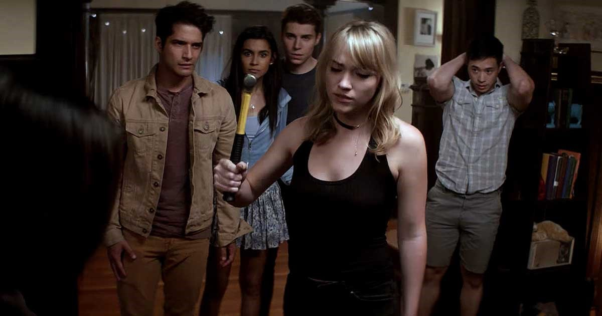 Tyler Posey, Nolan Gerard Funk, Sophia Ali, Hayden Szeto, and Violett Beane in Truth or Dare (2018)