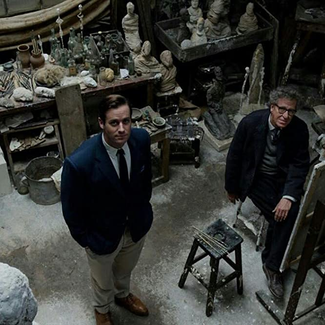 Geoffrey Rush and Armie Hammer in Final Portrait (2017)
