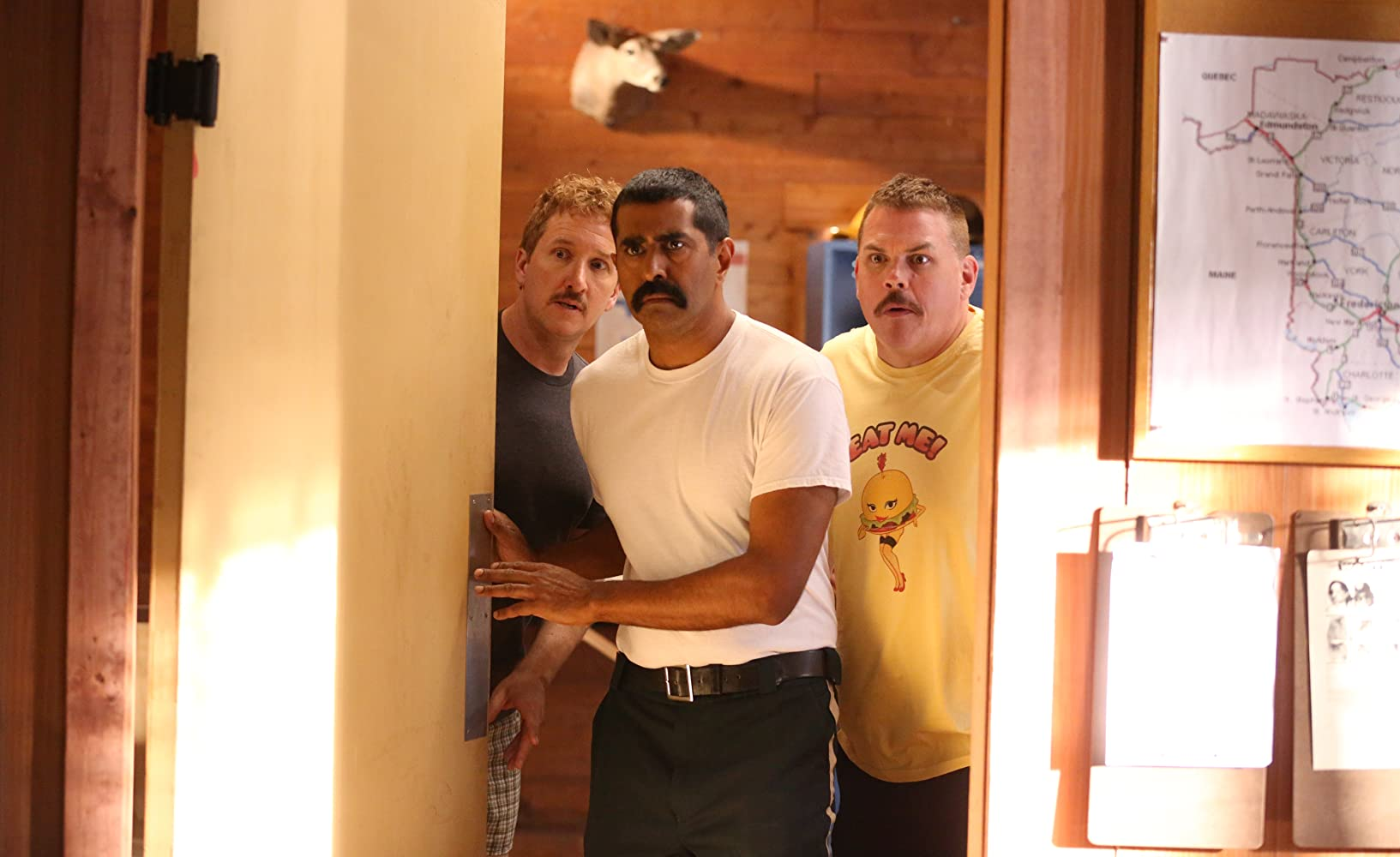 Jay Chandrasekhar, Kevin Heffernan, Paul Soter, and Super Troopers in Super Troopers 2 (2018)