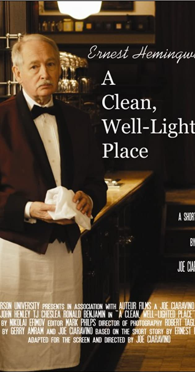 a clean well lighted place ernest A clean, well-lighted place by ernest hemingway, analyzed by elizabeth s wall the main focus of a clean, well-lighted place is on the pain of old age suffered by a man that we meet in a cafe late one night.
