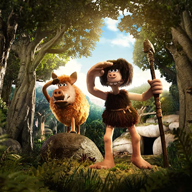 Nick Park and Eddie Redmayne in Early Man (2018)