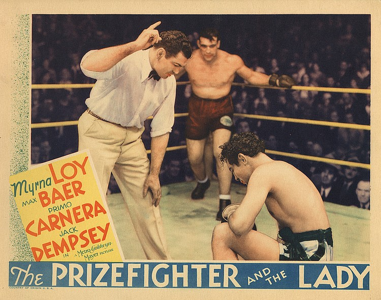 Max Baer, Primo Carnera, and Larry McGrath in The Prizefighter and the Lady (1933)