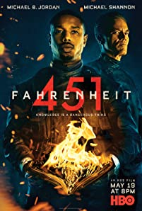 Michael B. Jordan and Michael Shannon in Fahrenheit 451 (2018)